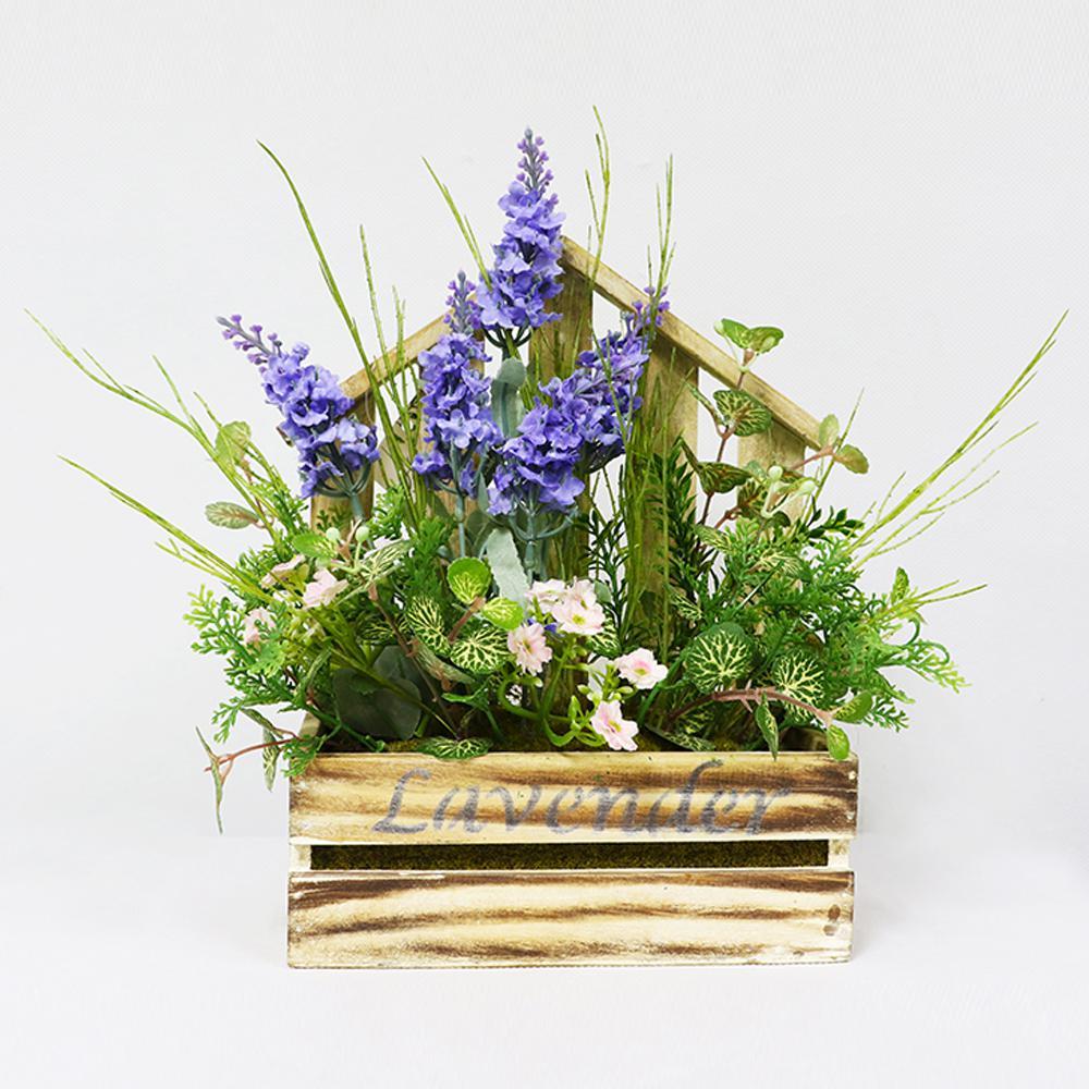 12 in. Indoor Artificial Flower Arrangement in Planter