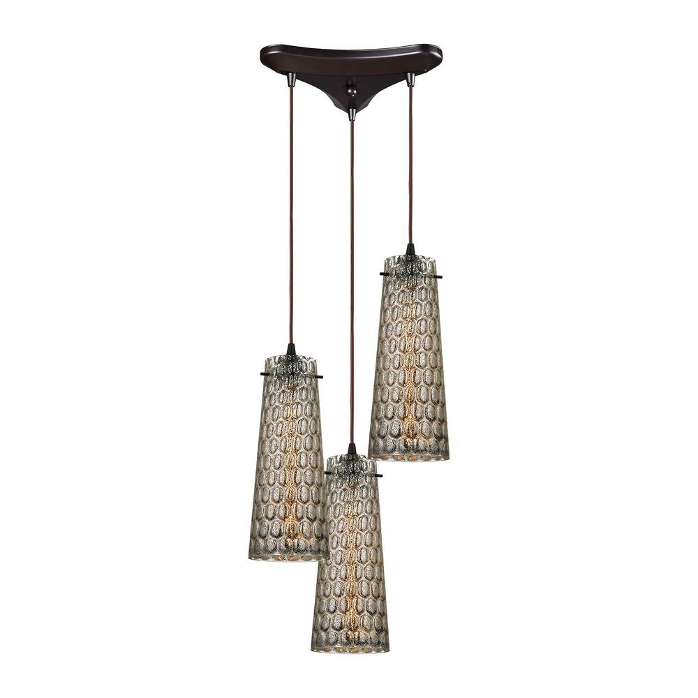 Titan Lighting Jerard 3-Light Oil Rubbed Bronze Pendant