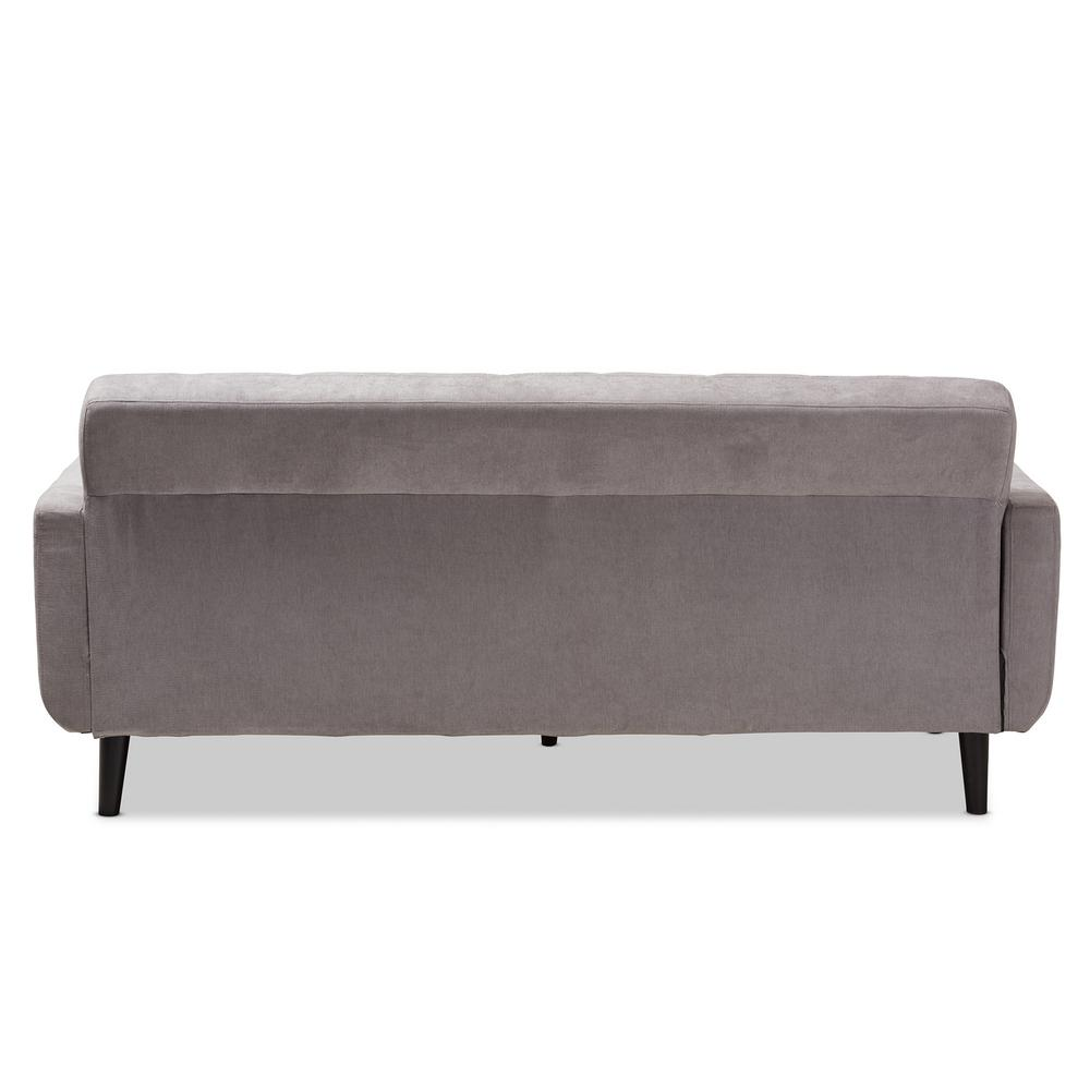 Cool Baxton Studio Carina Light Gray Fabric Sofa 145 8217 Hd Customarchery Wood Chair Design Ideas Customarcherynet