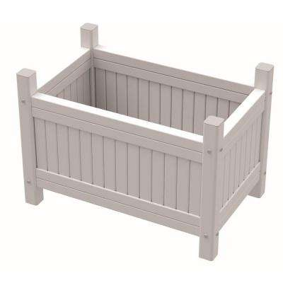 Vinyl 24 in. W x 15 in. D x 12 in. H Planter Box