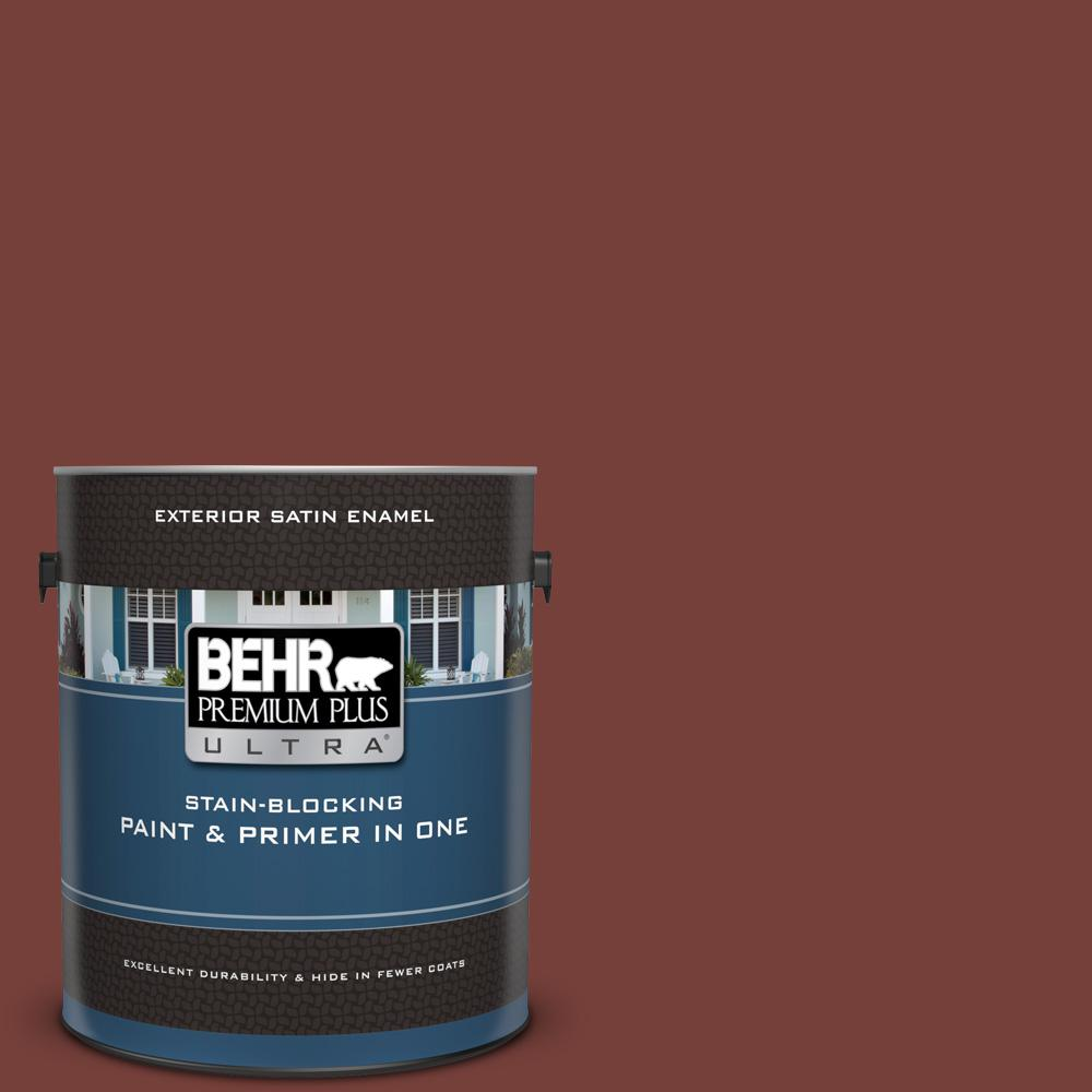 S170 7 Dark Cherry Mocha Satin Enamel Exterior Paint And Primer In One
