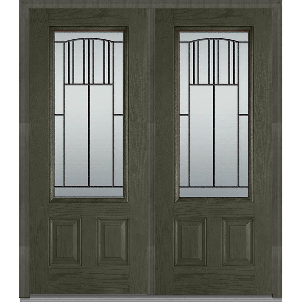 Mmi door 72 in x 80 in madison right hand 3 4 lite 2 for 72 x 80 exterior door
