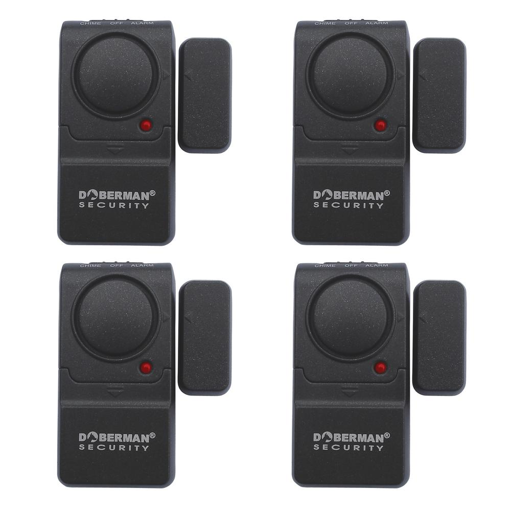 Mini Entry Defender Door Wireless Alarm with Chime (4-Pack)