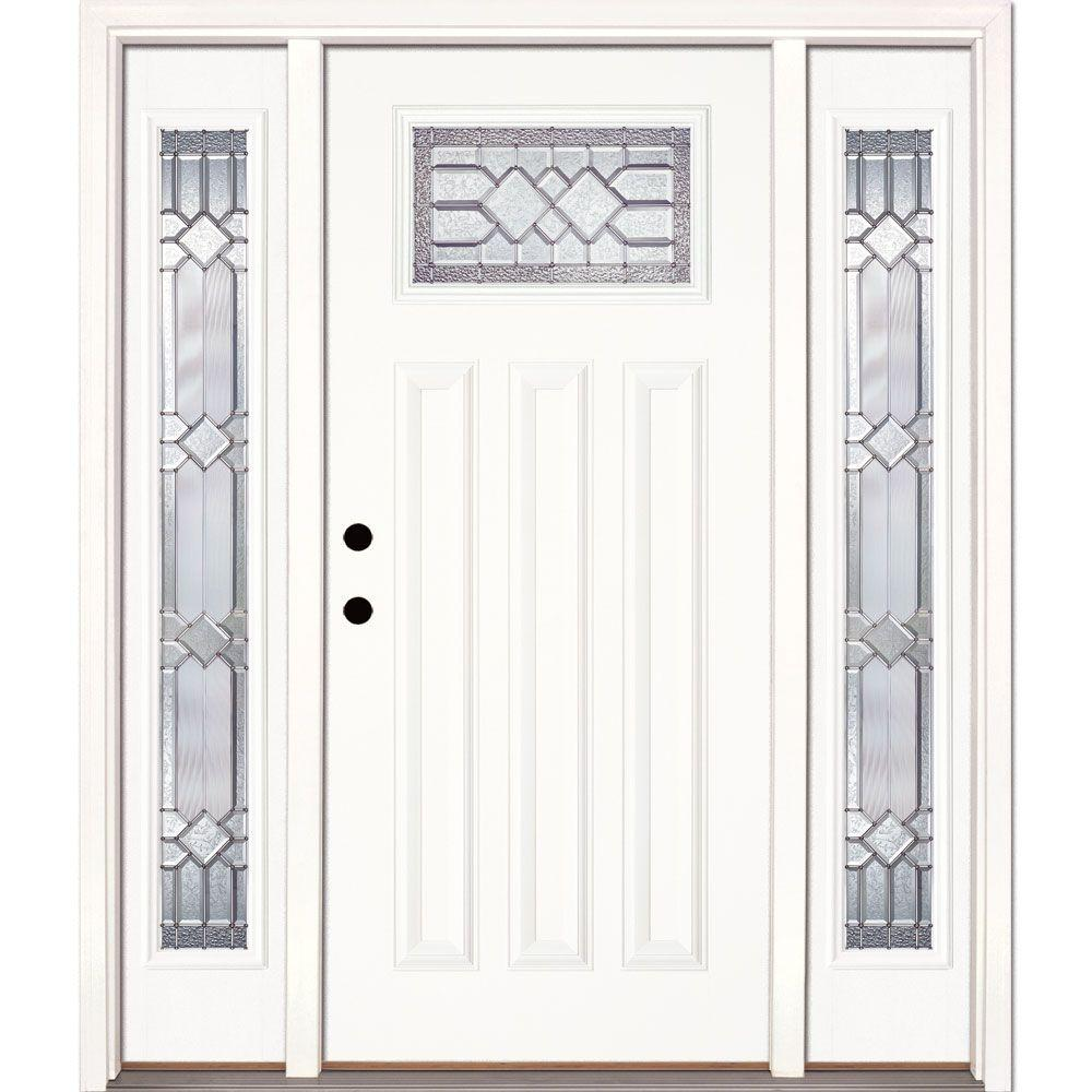 Feather River Doors 63.5 In.x81.625in.Mission Pointe Zinc