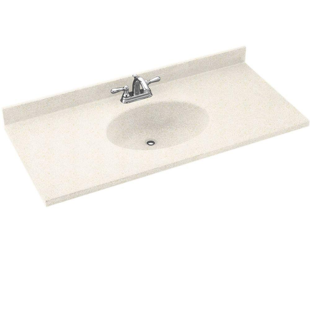 Swanstone Chesapeake 55 in. W Solid Surface Vanity Top in Baby's Breath with Baby's Breath Basin