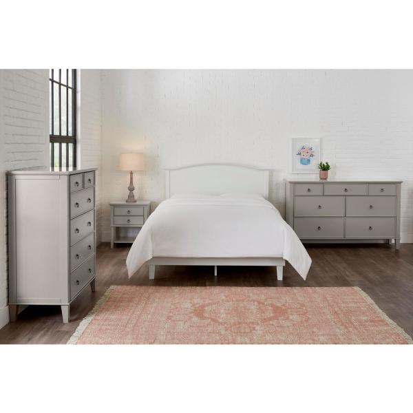 Stylewell Colemont White Wood Curved Back King Size Headboard 78 In W X 48 In H Xmb2011 Hb Only The Home Depot
