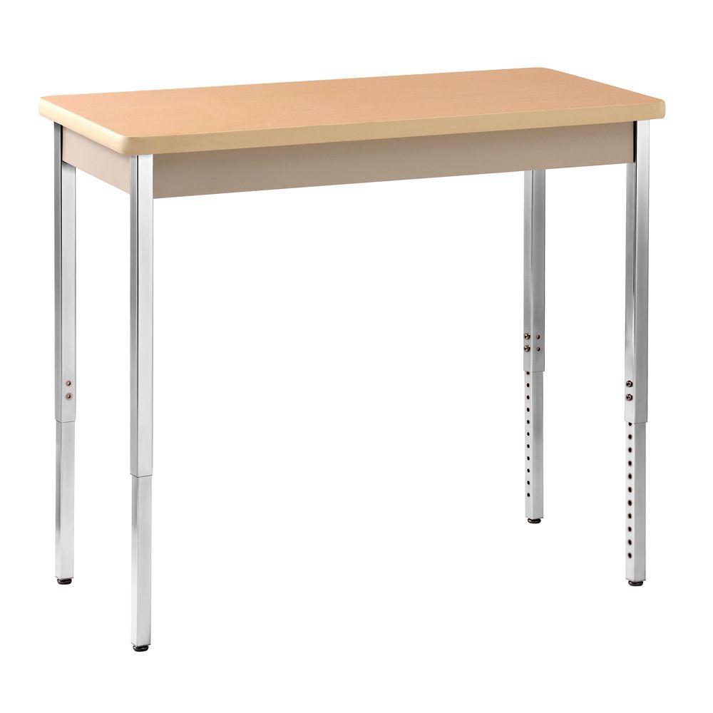 Sandusky 36 in. H x 40 in. W x 20 in. D Heavy Duty Steel Meeting/Activity Table in Putty/Maple