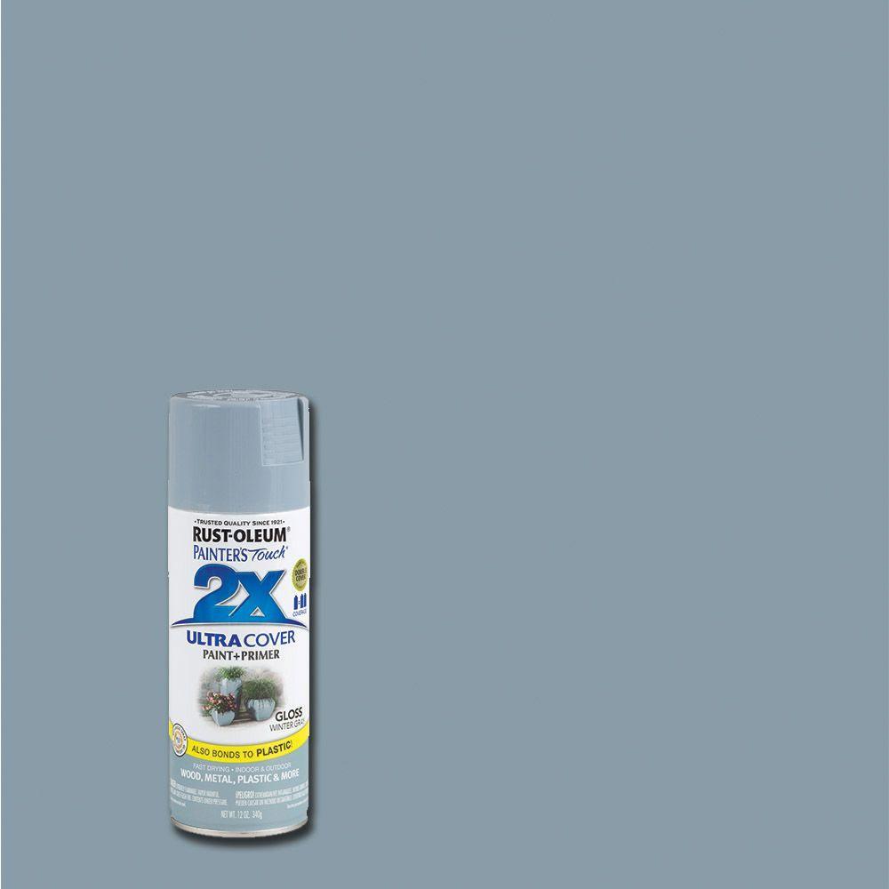 12 oz. Gloss Winter Gray General Purpose Spray Paint