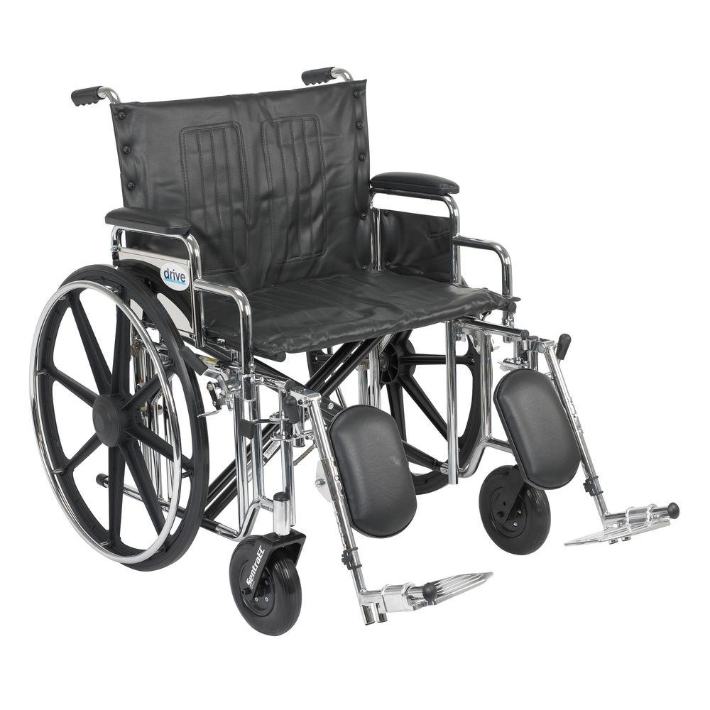 Drive Sentra Extra Heavy Duty Wheelchair with Detachable Desk Arms and Elevating Legrest