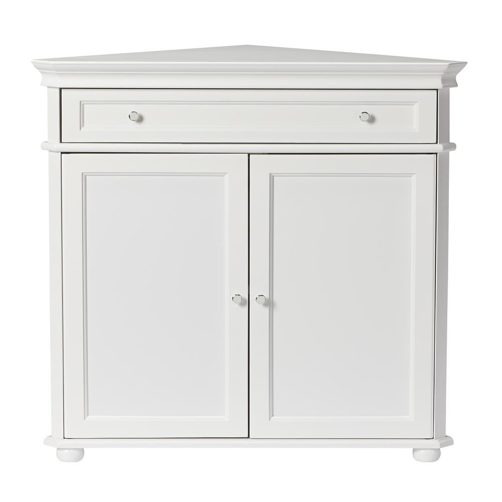Home Decorators Collection Hampton Harbor White Storage Cabinet