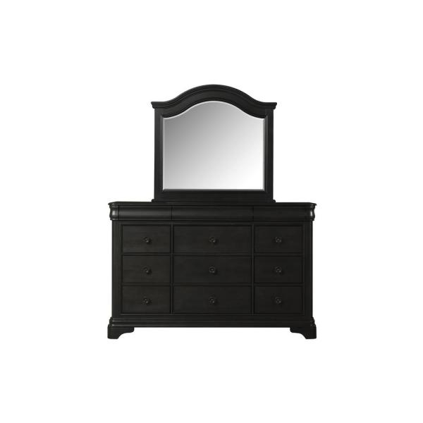 undefined Conley 9-Drawer Charcoal Dresser with Mirror