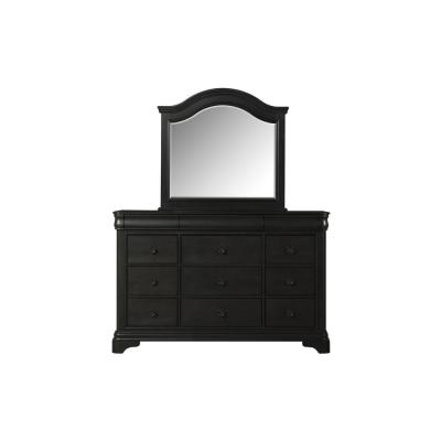 Conley 9-Drawer Charcoal Dresser with Mirror