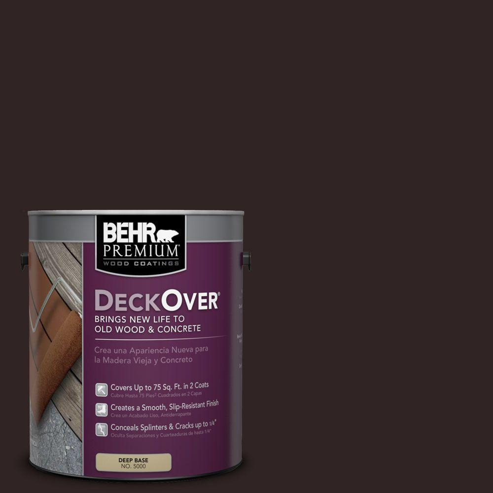 BEHR Premium DeckOver 1 gal. #SC-104 Cordovan Brown Wood and Concrete Coating