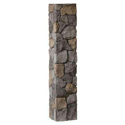 8-1/4 in. x 8-1/4 in. x 3-1/2 ft. Composite Gray Fieldstone Fence Postcover