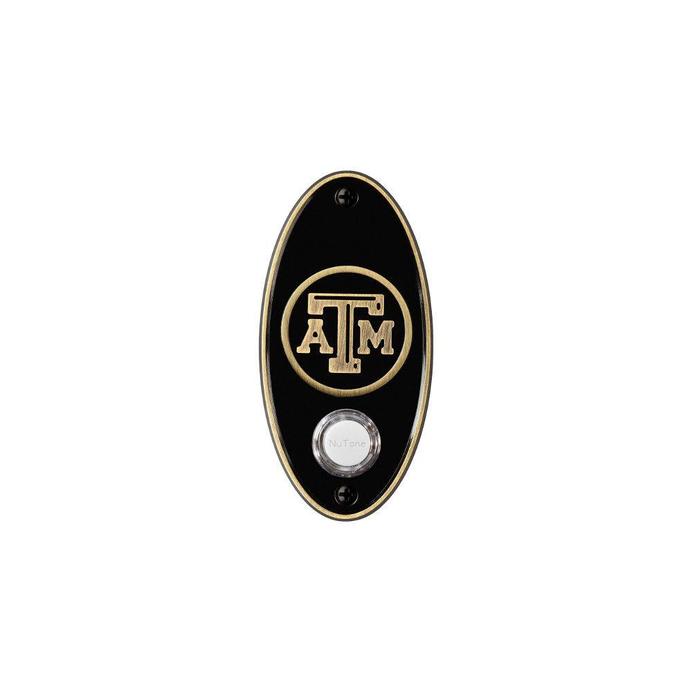 NuTone College Pride Texas A/M University Wireless Door Chime Push Button - Antique Brass