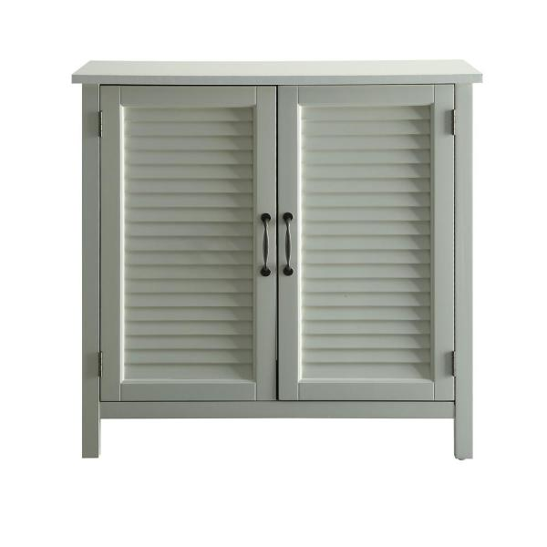 Urban Style Living Olivia White Accent Cabinet, 2-Shutter Doors