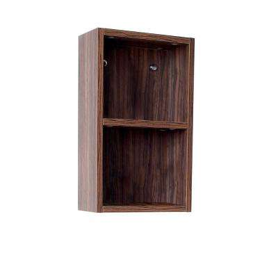 12 in. W Linen Storage Cabinet in Walnut