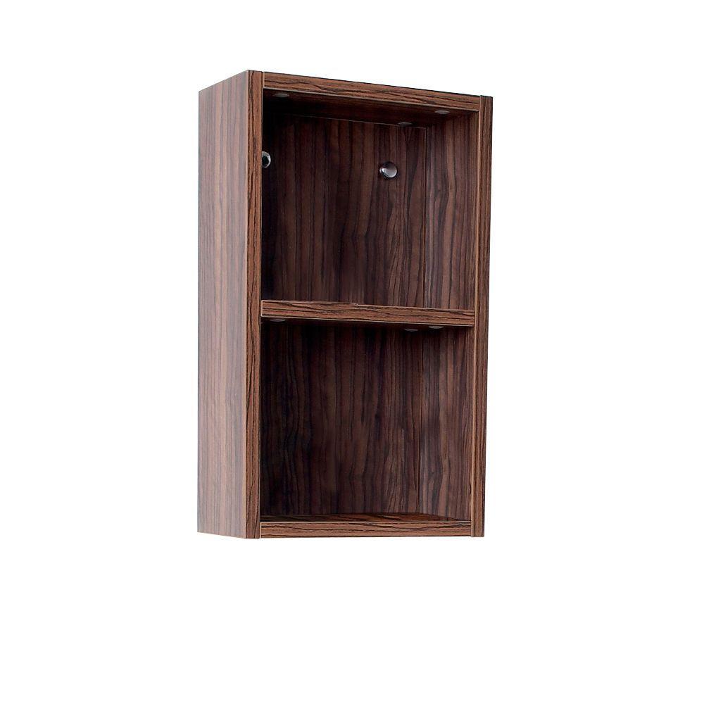 12 in. W Linen Storage Cabinet in Walnut