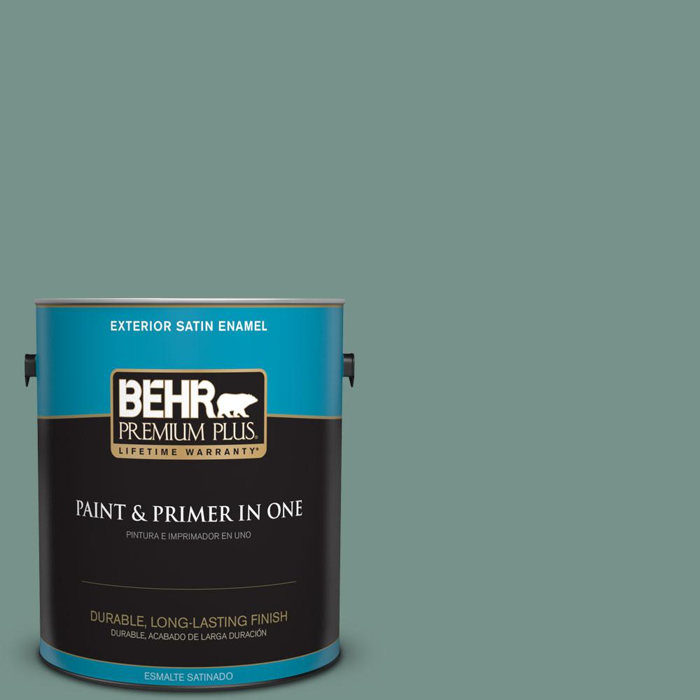 1-gal. #S430-5 Longmeadow Satin Enamel Exterior Paint