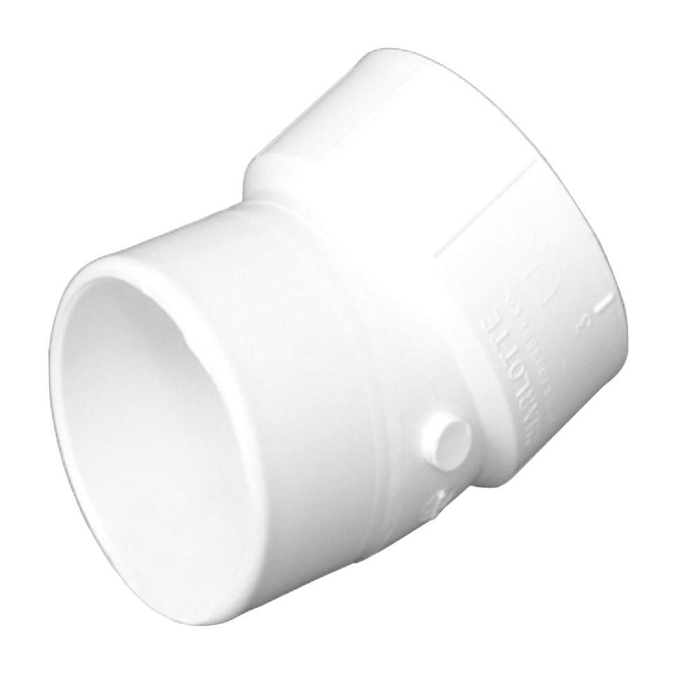 3 in. PVC DWV 22-1/2-Degree Hub x Hub Street Elbow