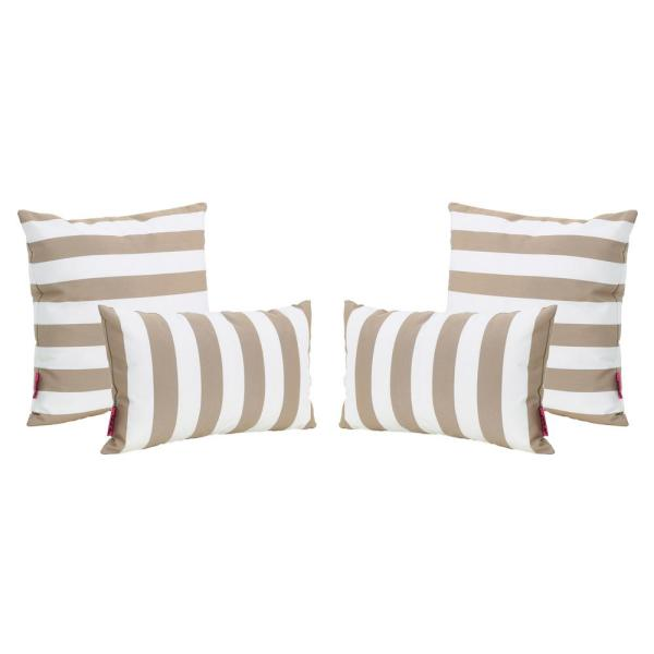 Coronado Brown Outdoor Throw Pillow (4-Pack)