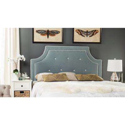 Tallulah Sky Blue and White Queen Headboard