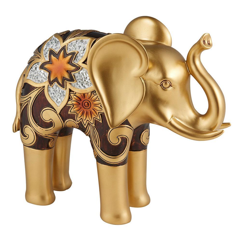 Azalea Elephant Polyresin Decorative Piece