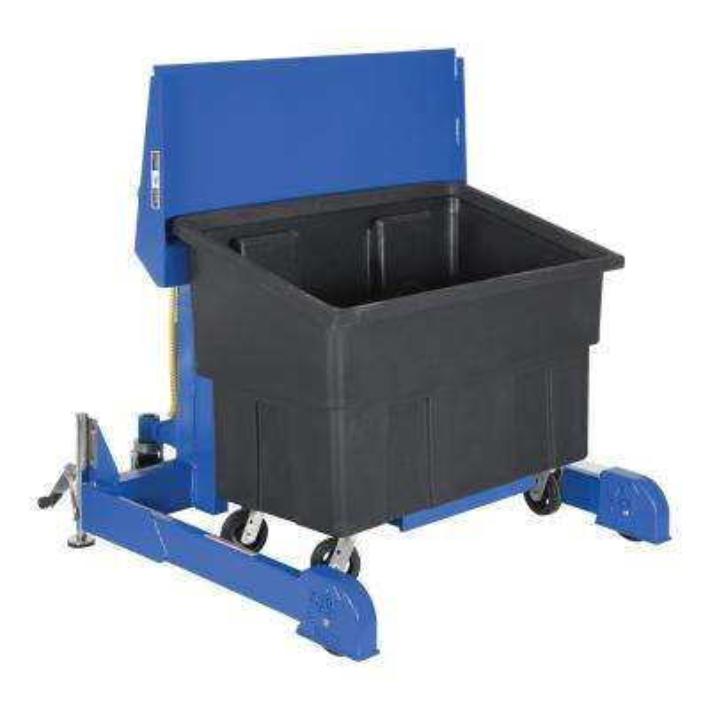 600 lb. Capacity 72 in. Polyethylene Multi-Purpose Tote Dumper