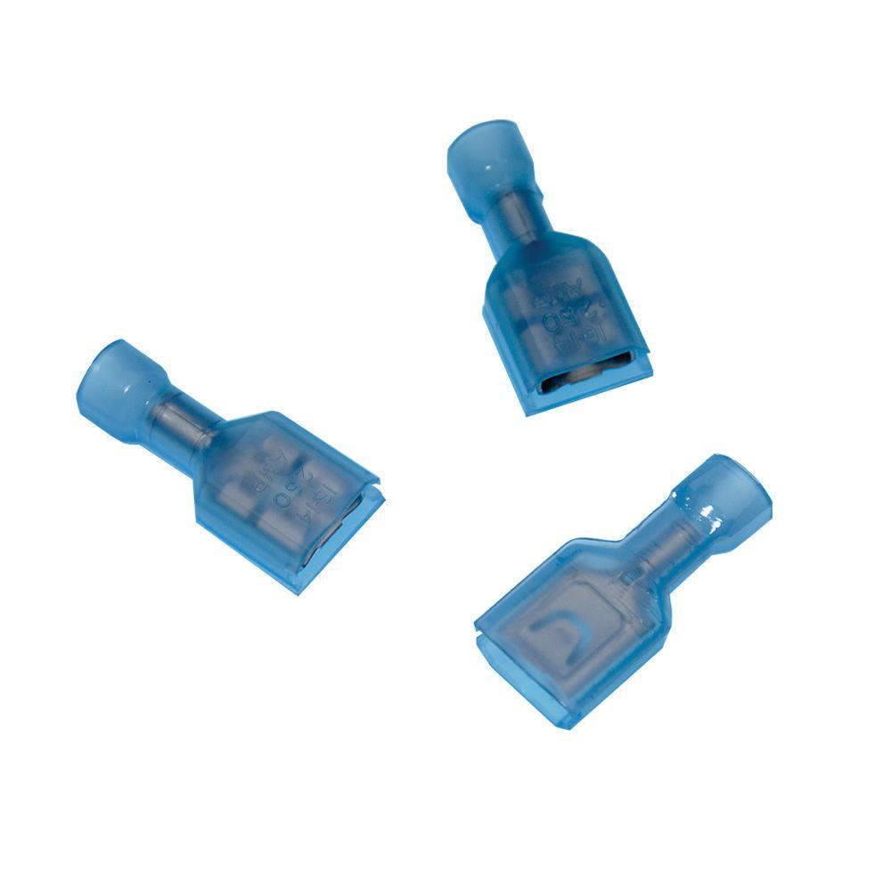 tyco electronics 0 250 series 16 14 awg 10 clam female disconnect rh homedepot com household electrical wire connectors home depot electrical wire connectors
