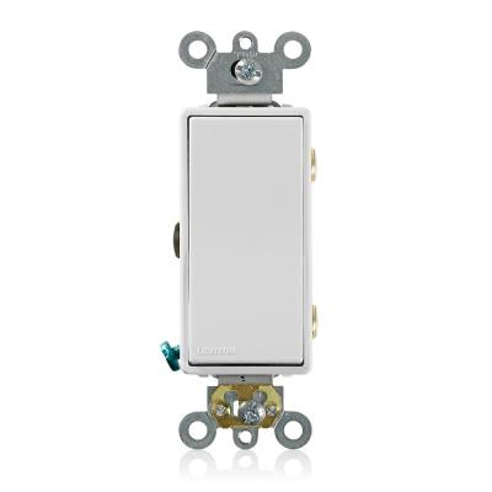 Decora 15 Amp 3-Way AC Quiet Rocker Switch, White