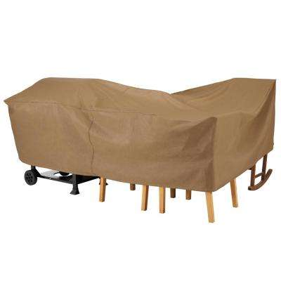 Essential 102 in. W x 72 in. D x 29 in. H Latte General Purpose Furniture Cover