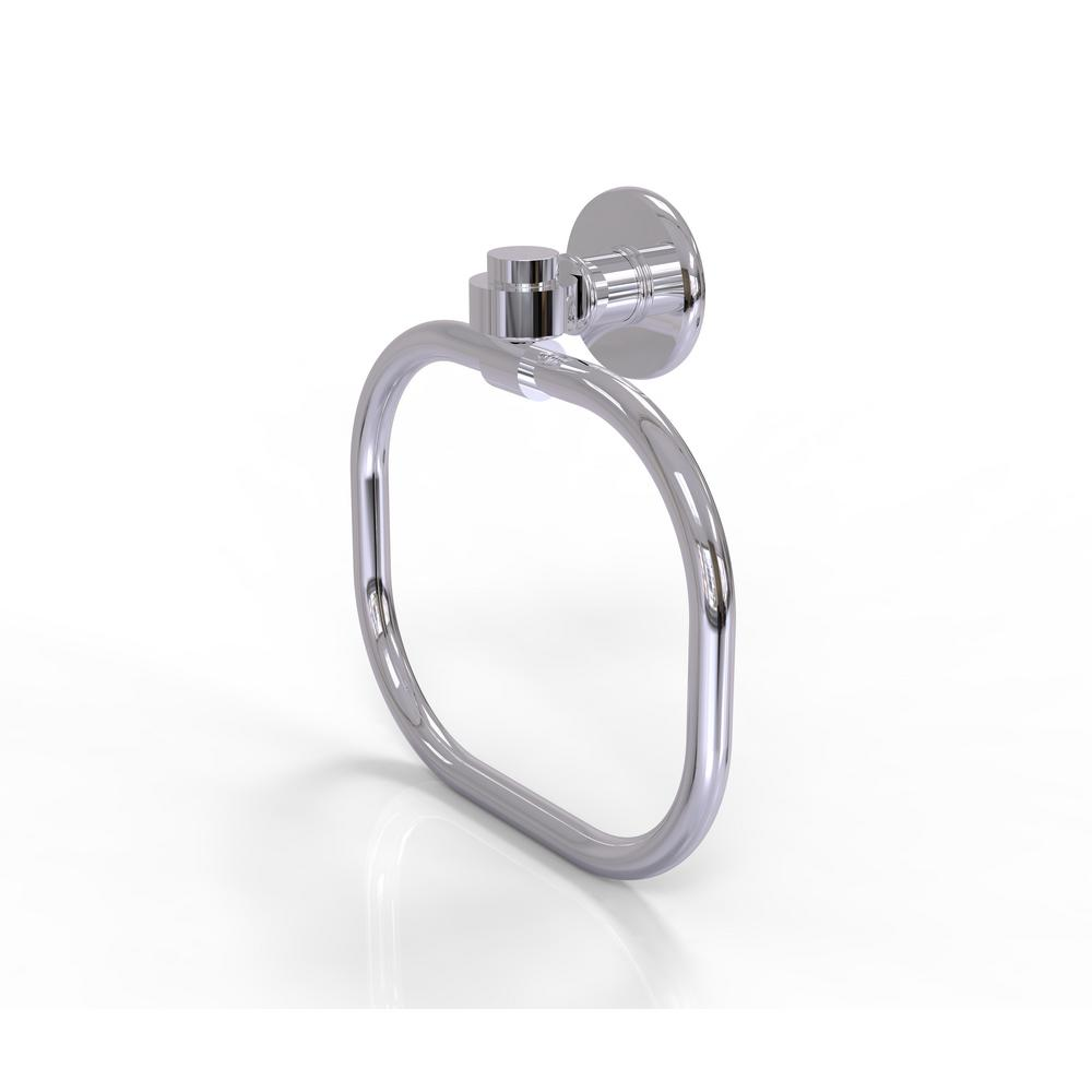 Allied Brass Continental Collection Towel Ring in Polished Chrome