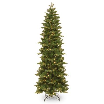 6-1/2 ft. Feel Real Prescott Pencil Slim Hinged Tree with 300 Clear Lights