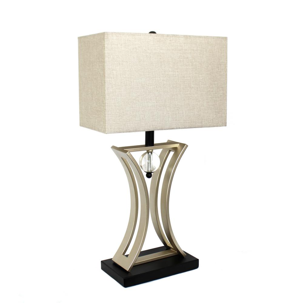 Brushed Chrome And Black Conference Room Hourglass Shape Pendulum Table Lamp LT2001 CHR    The Home Depot