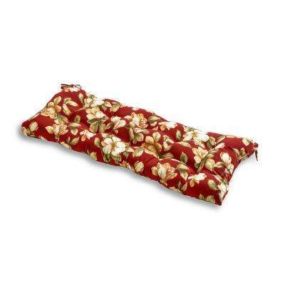 Roma Floral Rectangle Outdoor Bench Cushion