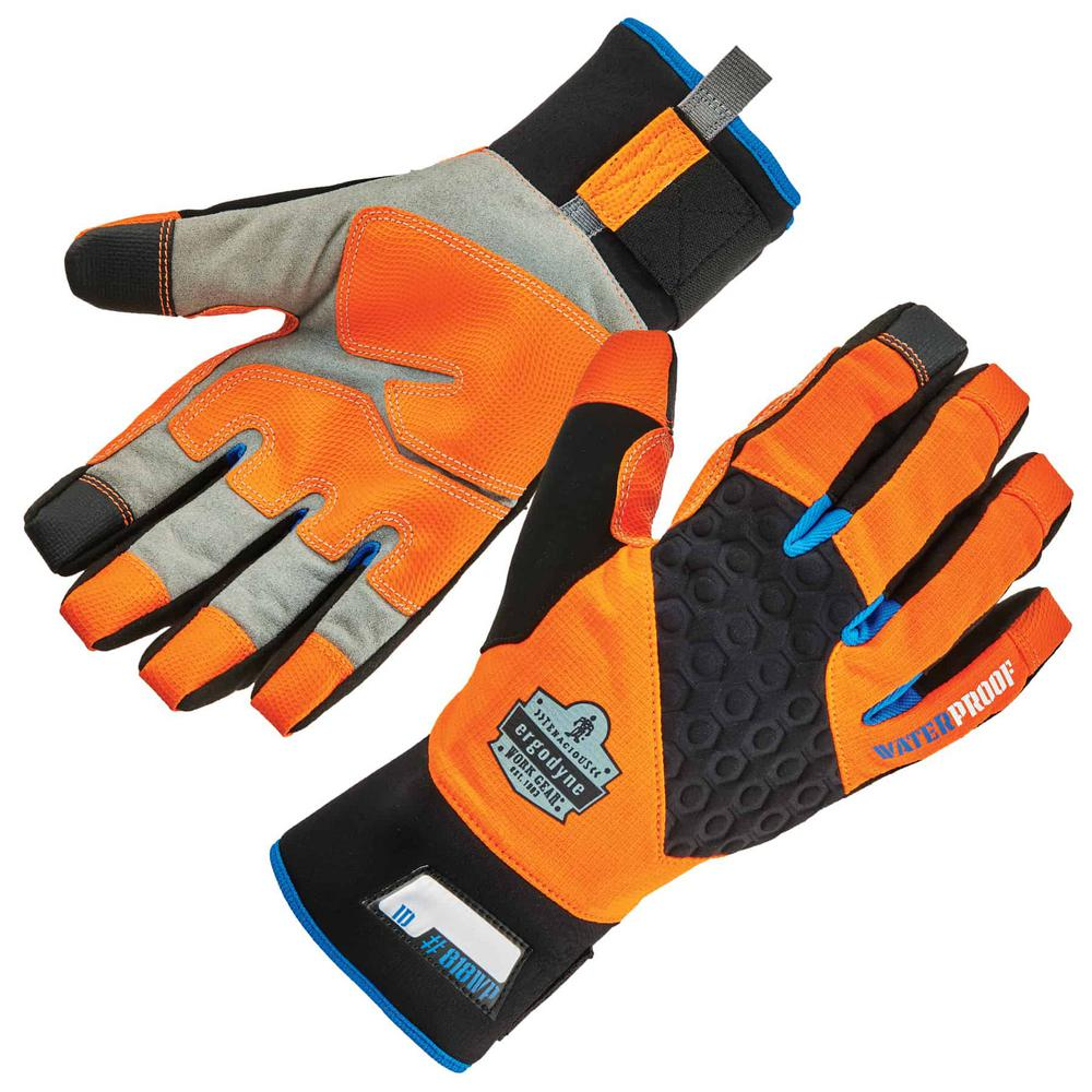Ergodyne ProFlex 818WP Medium Orange Performance Thermal Waterproof Utility Gloves