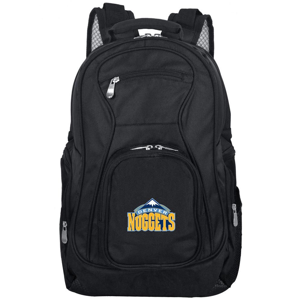 NBA Denver Nuggets Black Backpack Laptop