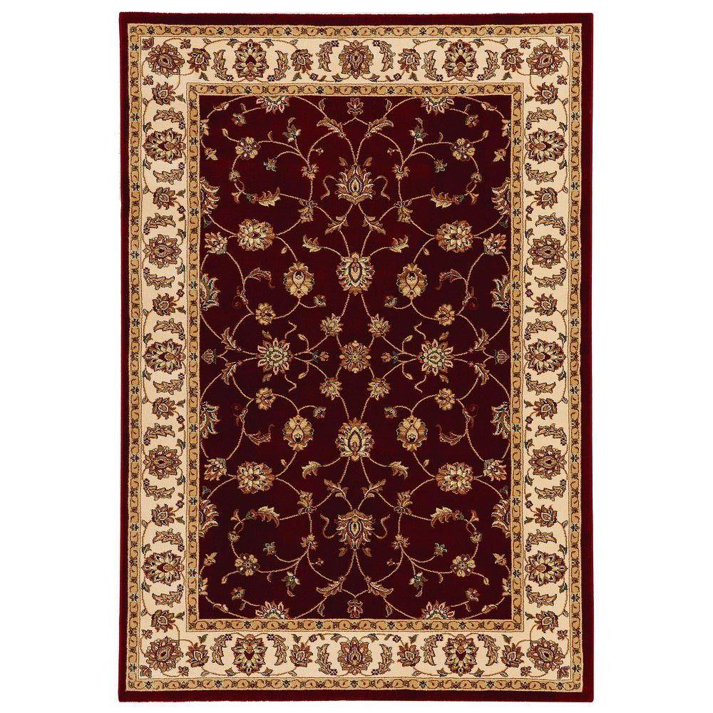 Home decorators collection claire red beige 7 ft 10 in x for Home decorators rugs