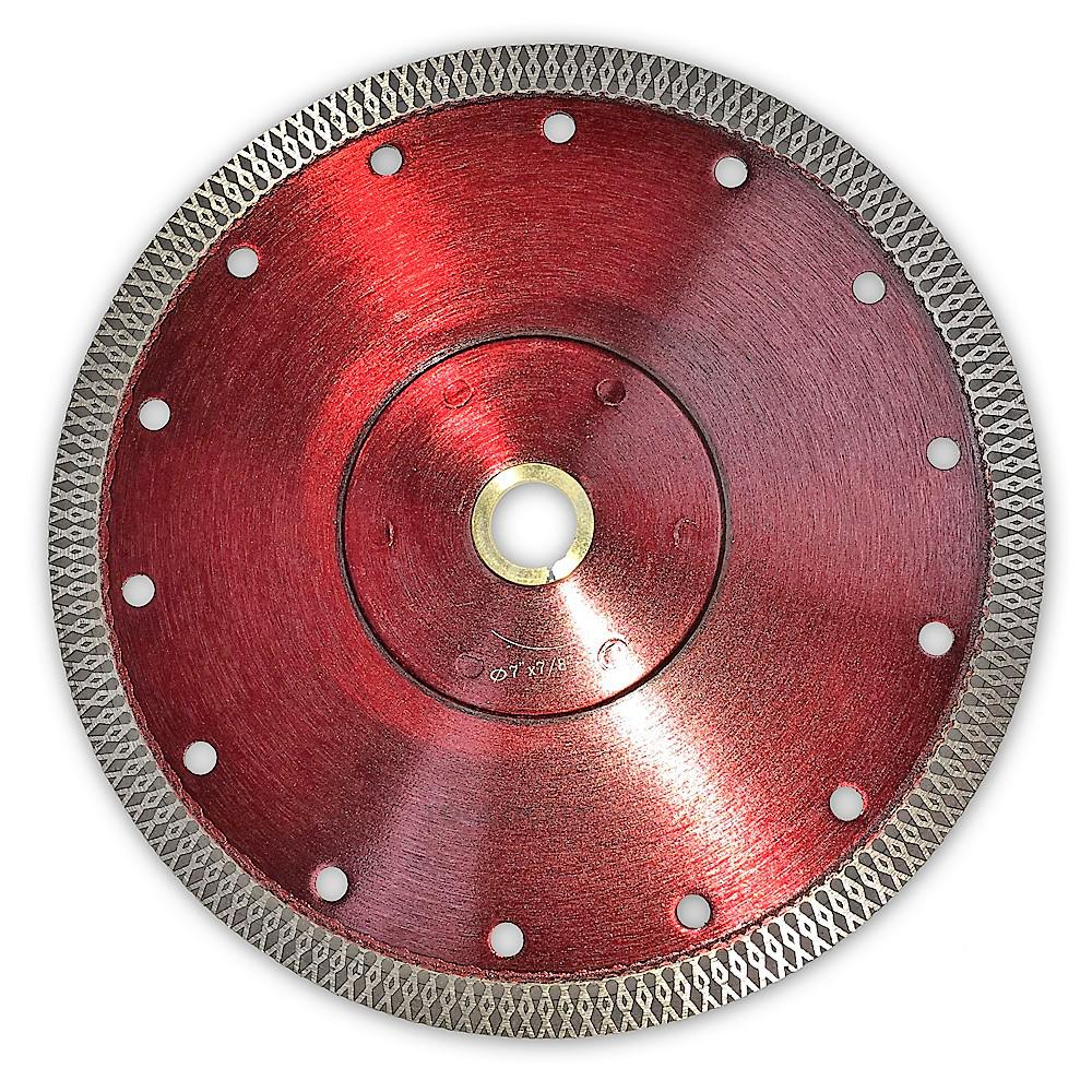 "5/"" Cyclone Mesh Rim Diamond Blade For Porcelain"