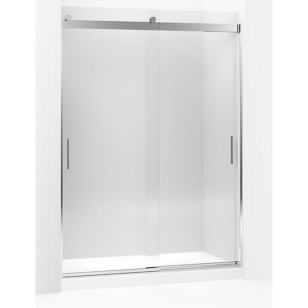 Frameless bypasssliding shower doors showers the home depot levity 59625 in w x 82 in h frameless sliding shower door in bright planetlyrics Choice Image
