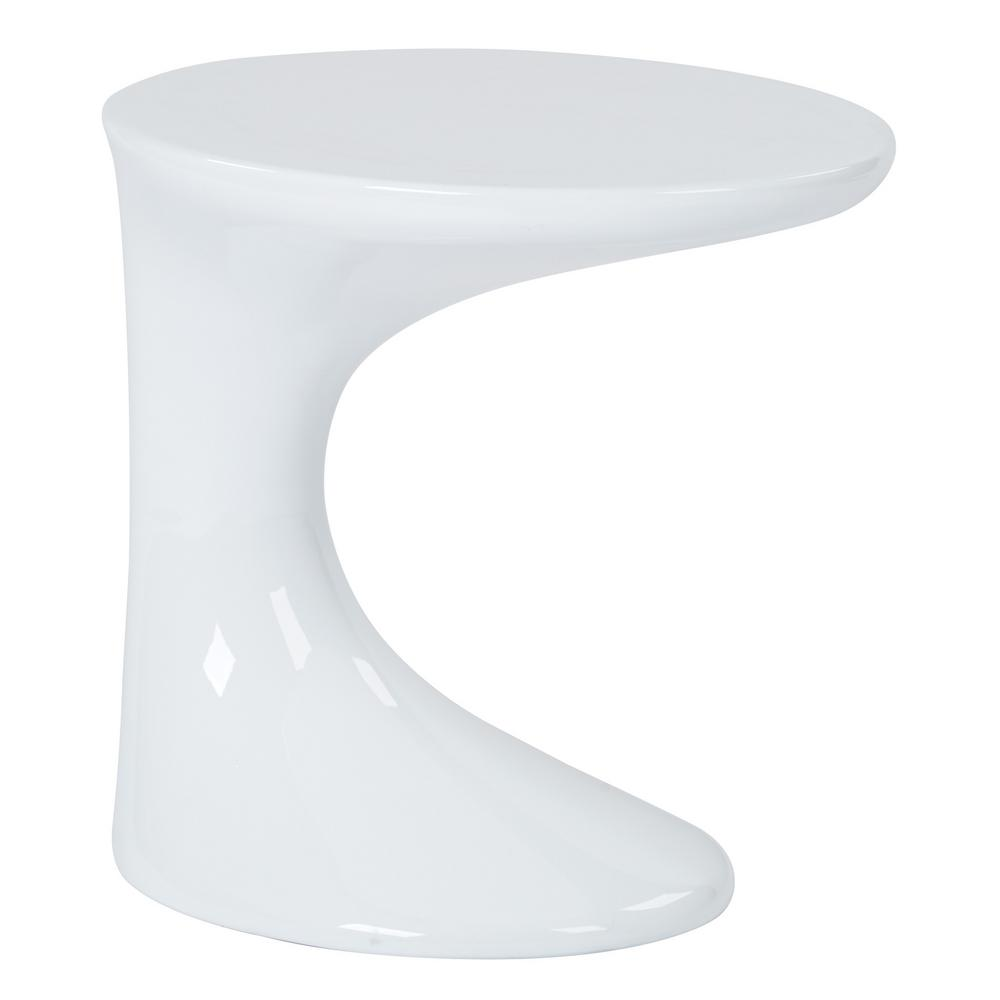 Slick White Accent Table