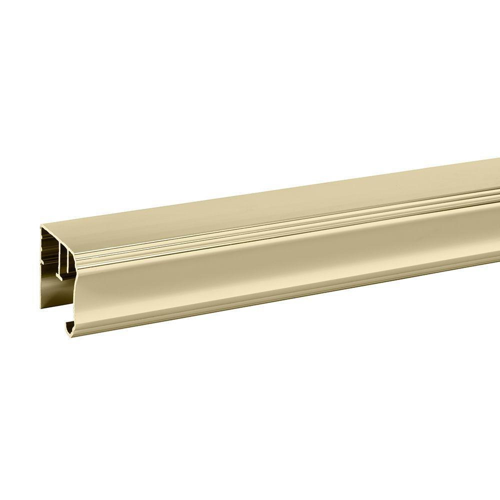 36 in. Semi-Frameless Pivot Shower Door Track Assembly Kit in Polished Brass