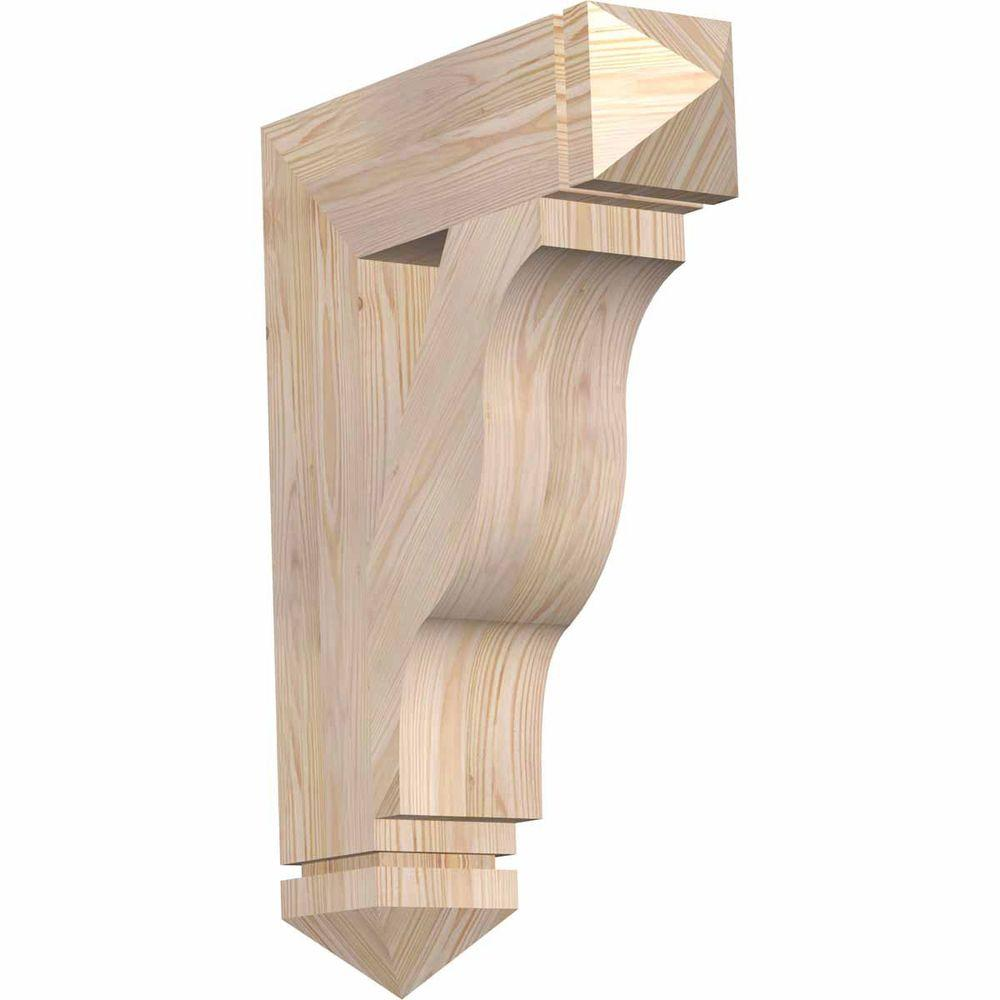 Ekena Millwork 5.5 in. x 30 in. x 22 in. Douglas Fir Funston Arts and Crafts Smooth Bracket