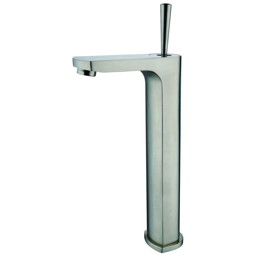 Yosemite Home Decor Single Hole Single Handle Vessel Bathroom Faucet In Brushed Nickel Yp9921vf