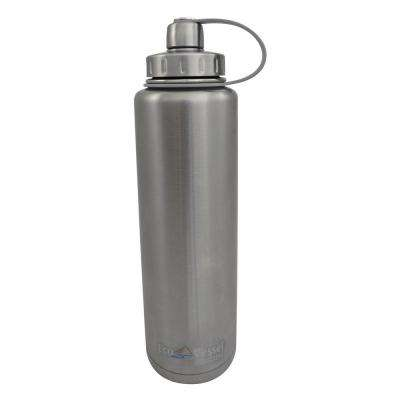BIGFOOT 45 oz. Triple Insulated Bottle with Screw Cap - Silver Express (No Coat)