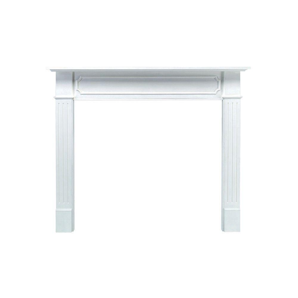 Berkley 62 in. x 52 in. MDF White Full Surround Mantel