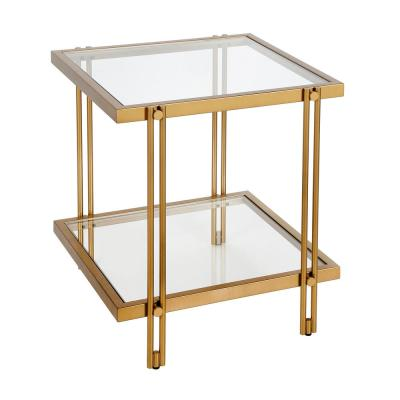 Inez Side Table Brass finish