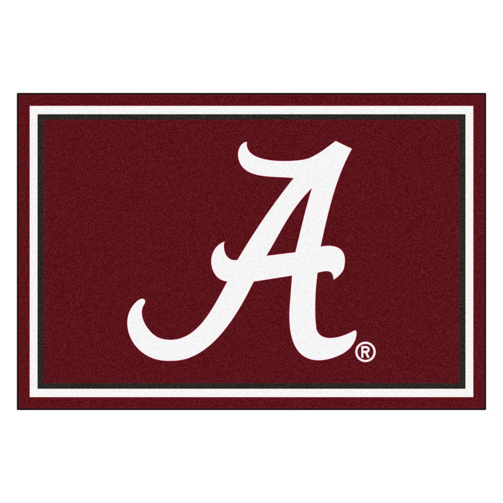 Fan Mats Ncaa University of Alabama Red 5 ft. x 8 ft. Ind...