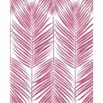 Paradise Palm Cerise Pink Vinyl Strippable Roll (Covers 30.75 sq. ft.)