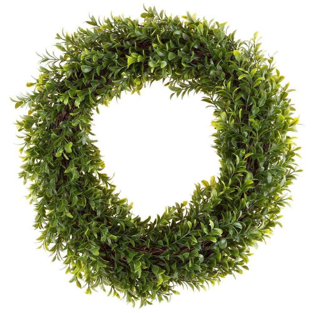 Pure Garden 15 in. Artificial Round Hedyotis Wreath